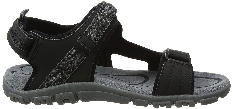 Geox Herren A  Herren Sandale Strada A Herren RiemchenSandale Schwarz (schwarz) 17cb2b