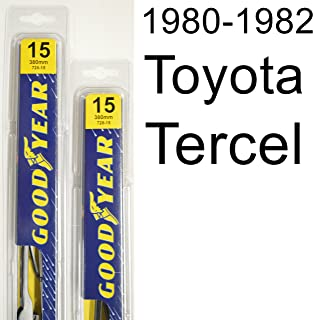 "product image for Toyota Tercel (1980-1982) Wiper Blade Kit - Set Includes 15"" (Driver Side), 15"" (Passenger Side) (2 Blades Total)"