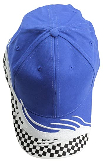 DALIX Blank Hat Racing Flare Ball Cap in Royal and White at Amazon ... ce9bf8a7c2d6