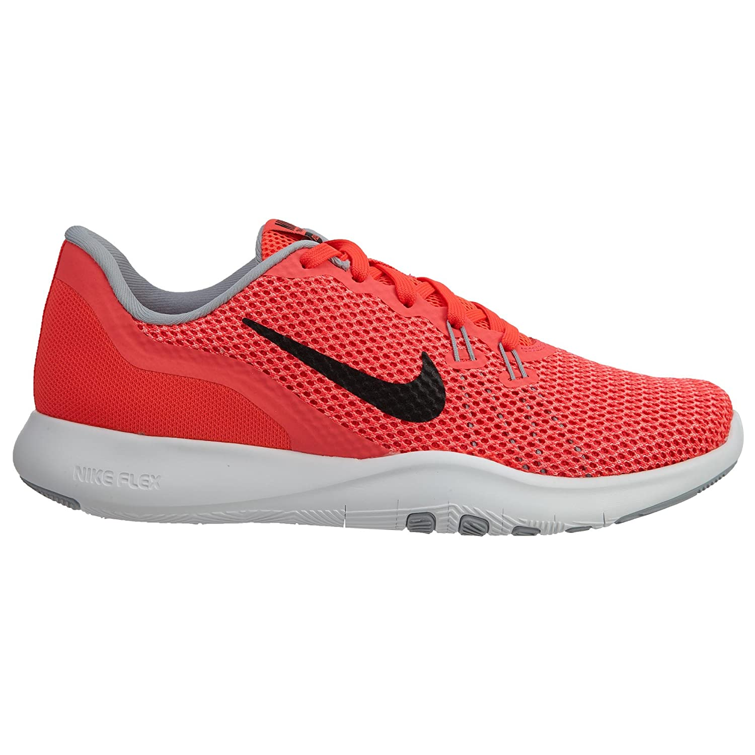 17e496285432 NIKE Womens W Flex Trainer 7 Solar RED Black HOT Punch Size 9.5   Amazon.co.uk  Shoes   Bags
