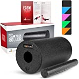 Proworks Foam Roller for Deep Tissue Massage incl. Exercise Book – Fascia & Trigger Point Massage – Muscle Roller for Yoga Pilates Fitness – Myofascial Release - Muscle Pain and Tension Relief