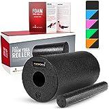 Proworks Faszienrolle aus Schaumstoff inkl. Booklet zur Triggerpunkt Selbstmassage - Massagerolle gegen Muskelschmerzen & Verspannungen - Foam Roller für Yoga & Pilates