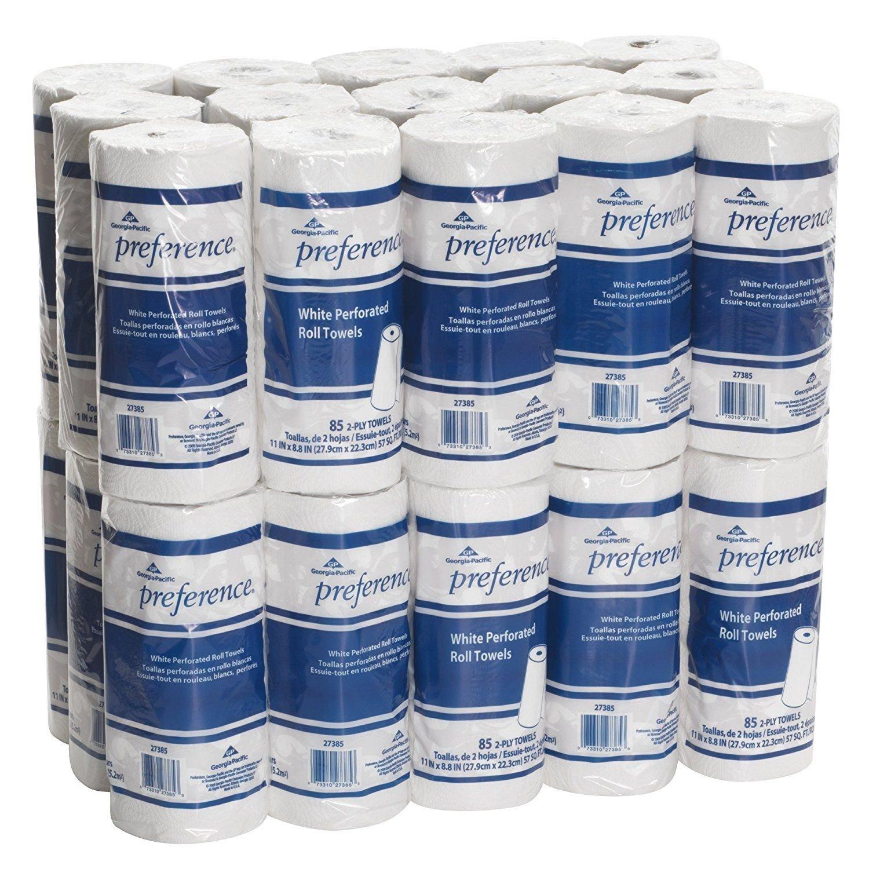 紙タオルバルク、2プライ、液体吸収性、穴あき、ホワイト色ロール紙タオル、使用の手wipeingキッチンペーパータオル、ビジネス&オフィス紙タオル、レストラン紙タオル B07DTLC1H3  30