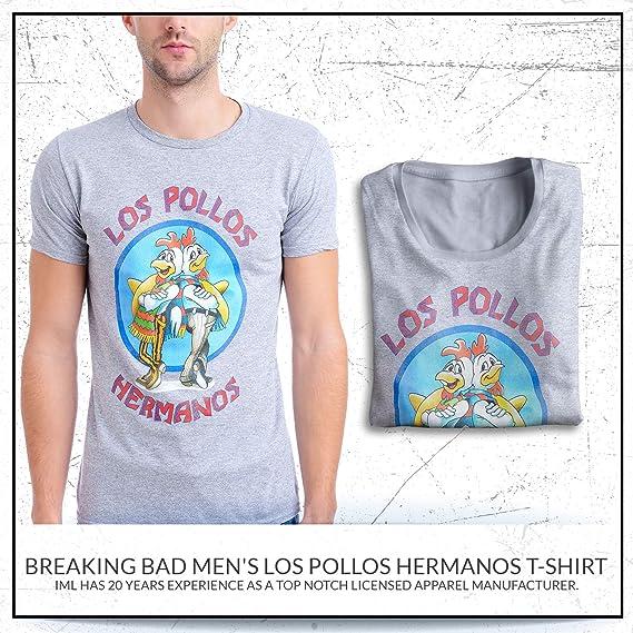 887d4becc Amazon.com: Breaking Bad Men's Los Pollos Hermanos T-Shirt: Clothing