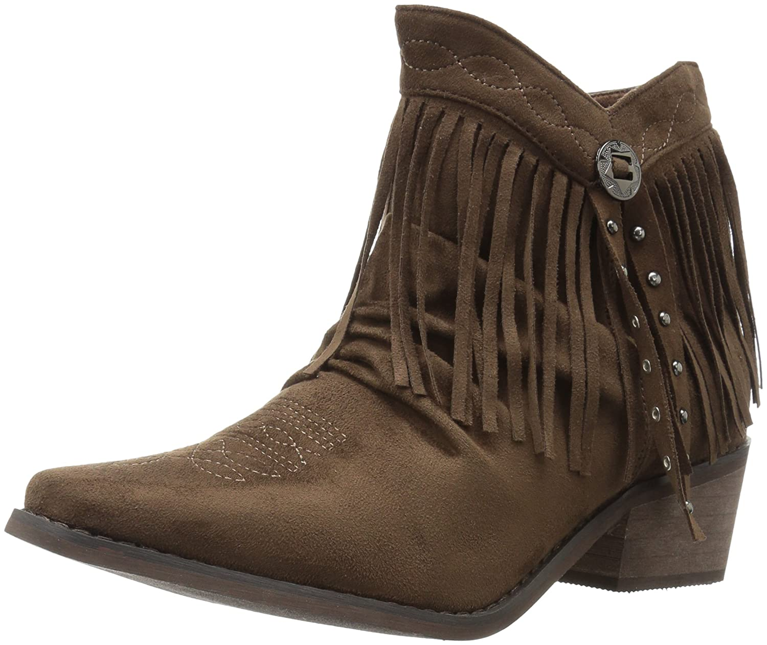Roper Women's Fringy Western Boot B01M9AD79F 7.5 D US|Brown