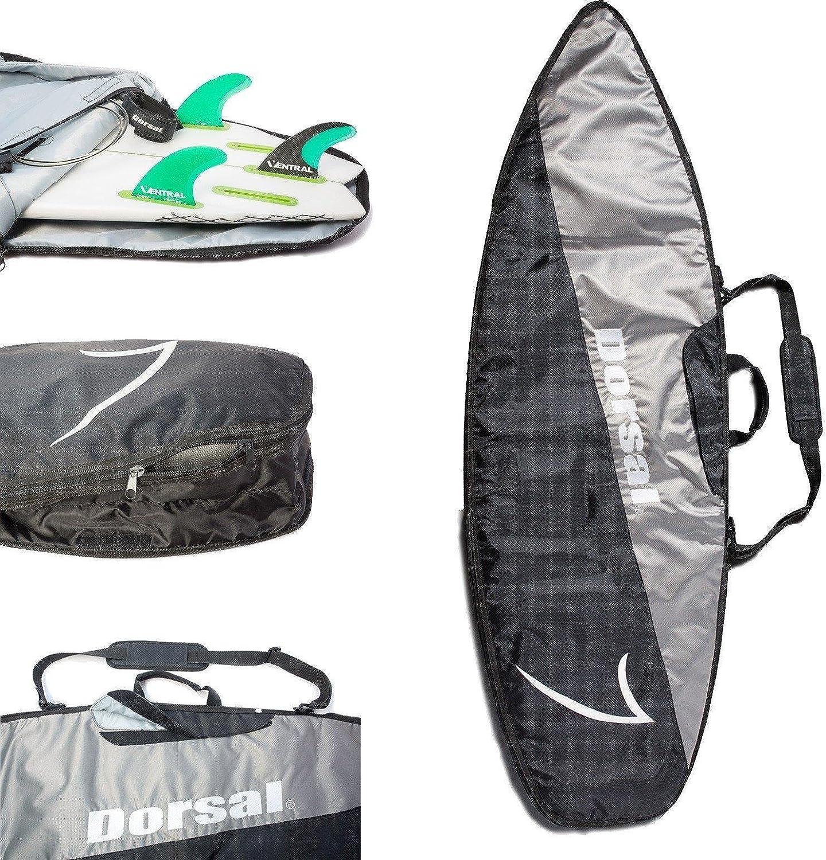 DORSAL - Bolsa para Tabla de Surf para Tabla de Surf (15,2 cm), Color Negro y Gris: Amazon.es: Deportes y aire libre