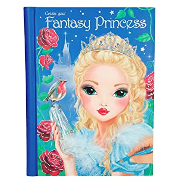 Top Model Stickers.Top Model Create Your Fantasy 6461 Princess Colouring Book