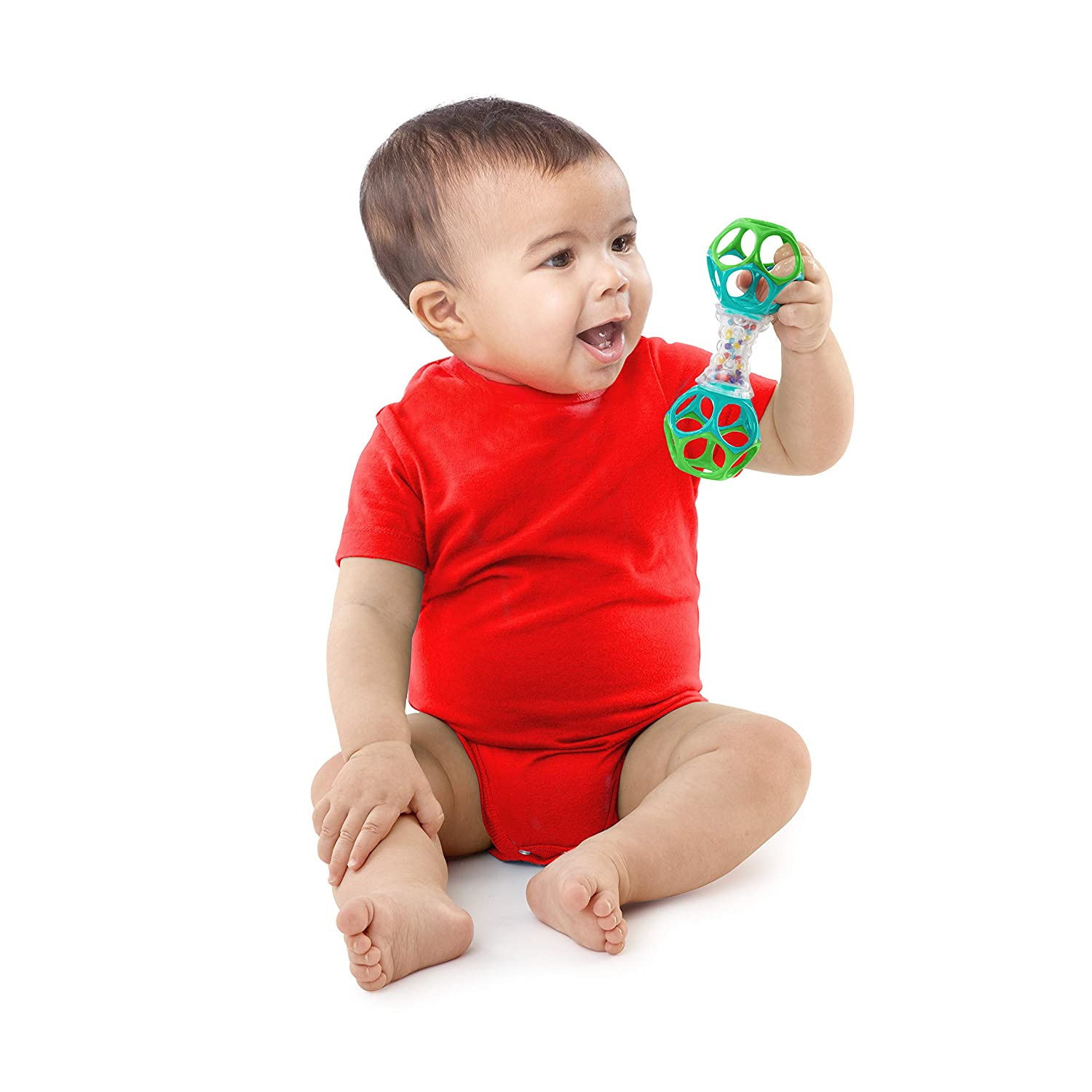O Ball Bright Starts Oball Shaker Rattle Toy, Ages Newborn Plus : Baby Rattles : Baby
