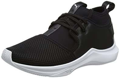 d93215c3fbf4a1 Puma Damen Phenom Low Satin EP WN s Cross-Trainer Schwarz Black White