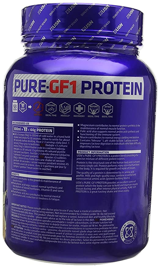 USN Pure Protein GF-1 Vanilla - 1000 gr: Amazon.es: Salud y cuidado personal