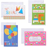 Assorted Birthday Cards and White Envelopes, 12-Count Assorted Fun