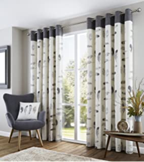 Curtains Ideas charcoal and cream curtains : Fully Lined Grey Nostalgia Eyelet Curtains - 66
