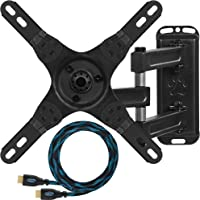 """Cheetah Mounts ALAMEB Articulating Arm (15\"""" Extension) TV Wall Mount Bracket for 12-37\"""" Displays up to VESA 200 and up to 40lbs, Includes a Twisted Veins 10\' HDMI Cable"""