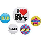 80s Party Badge Set One Size