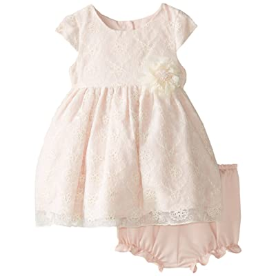 Pippa & Julie Baby Girls' Lace Dress with Cap Sleeves