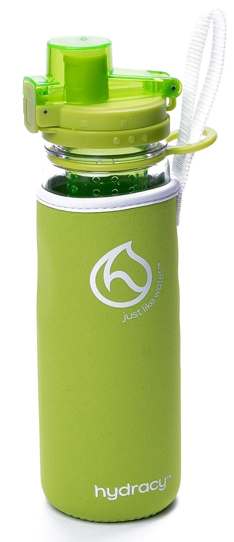 pl/ástico Durable 100/% sin BPA /ìPerfecta para Hacer Deporte y cuidar tu Salud! Hydracy Botella de Agua con Filtro infusor para Fruta 750 ml con Funda Aislante antitranspirante