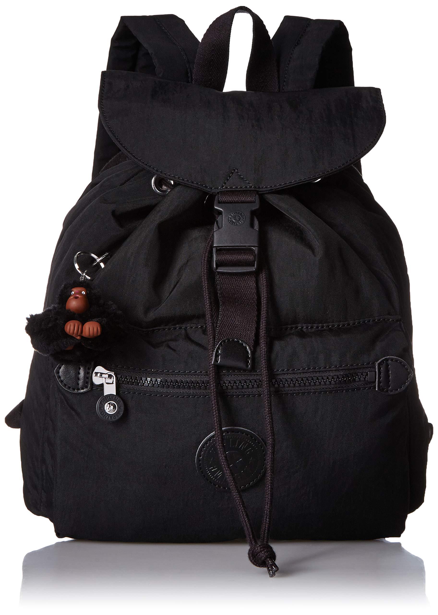 Kipling Keeper Small, Padded, Adjustable Backpack Straps, Drawstring Closure, Black