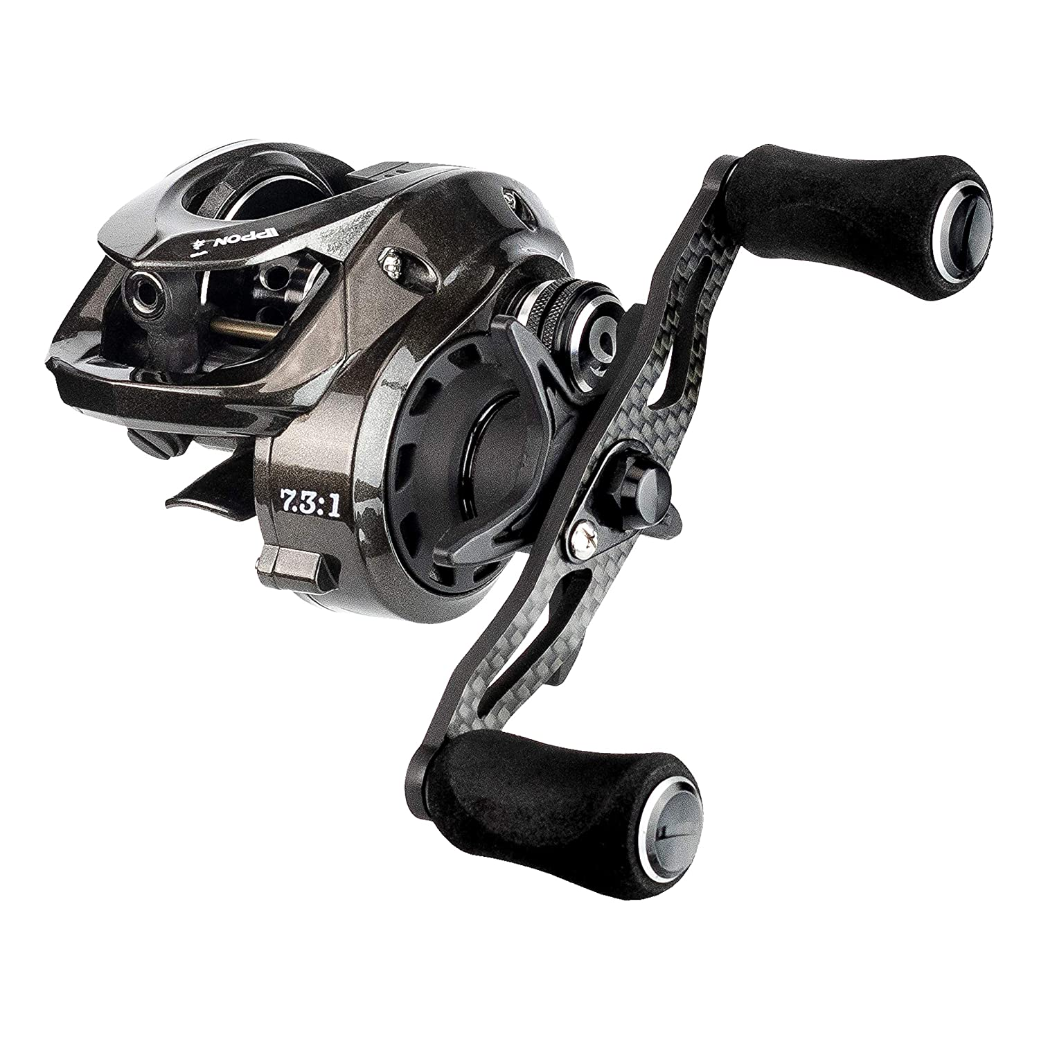 Enigma Fishing IPPON IPF100 Baitcasting Reels, Low Profile Baitcasters, Carbon Fiber Drag, Flipping – Pitching Magnetic Braking System Spool High-Speed Ceramic Bearings No Ordinary Reel