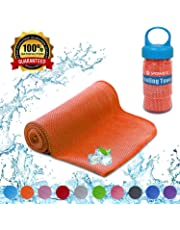 YQXCC Cooling Towels Ice Towel 120 x 30 cm Gym Microfibre Towel for Men or Women Ice Cold Towels for Yoga Gym Travel Camping Golf Football & Outdoor Sports