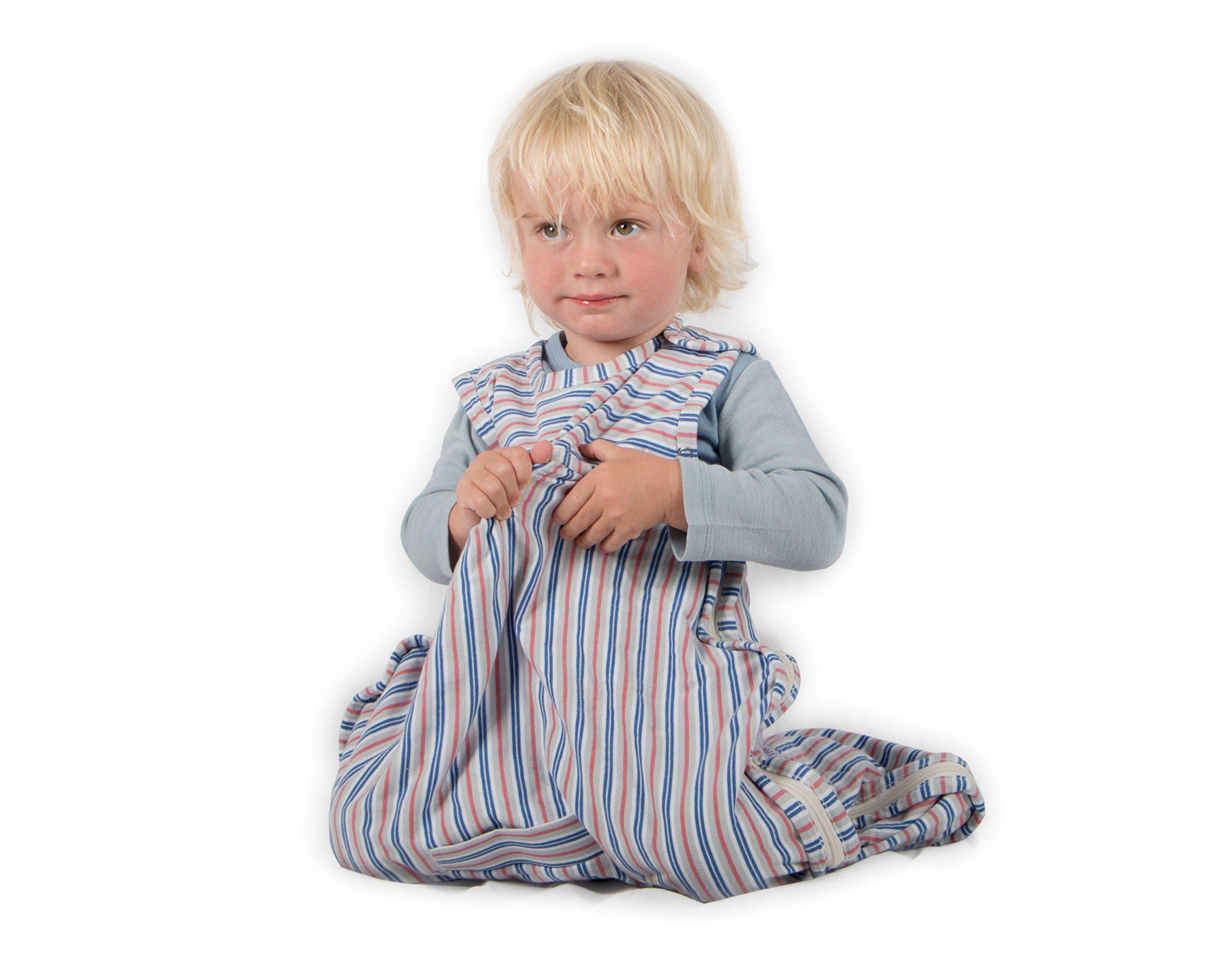 Merino Kids Organic Cotton Baby Sleep Bag for Babies 0-2 Years, Huckleberry by Merino Kids