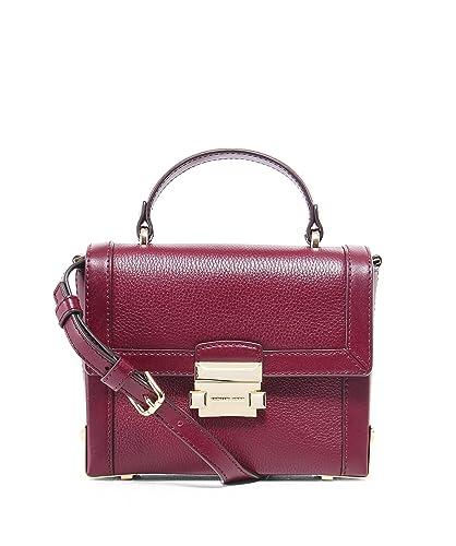 df65ba1c348 Michael Kors Jayne Small Leather Trunk Bag - Oxblood: Handbags: Amazon.com