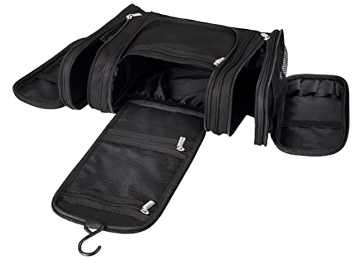 94da60d60e Amazon.com  Water Resistant Hanging Travel Toiletry Kit with TSA Approved  Clear Bag