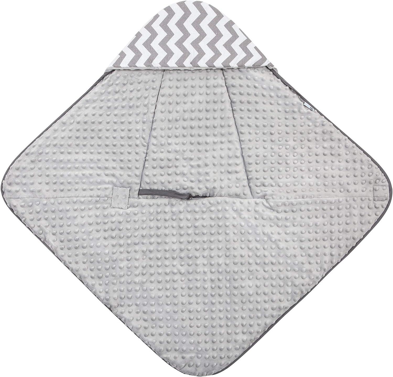Multi-usage pour si/ège Auto /Él/éphants Beige Gigoteuse Nid dange R/éversible Minky Enveloppante Couverture Emmaillotage Bebe Confortable- Tissu Doux Hiver Universelle /Ét/é