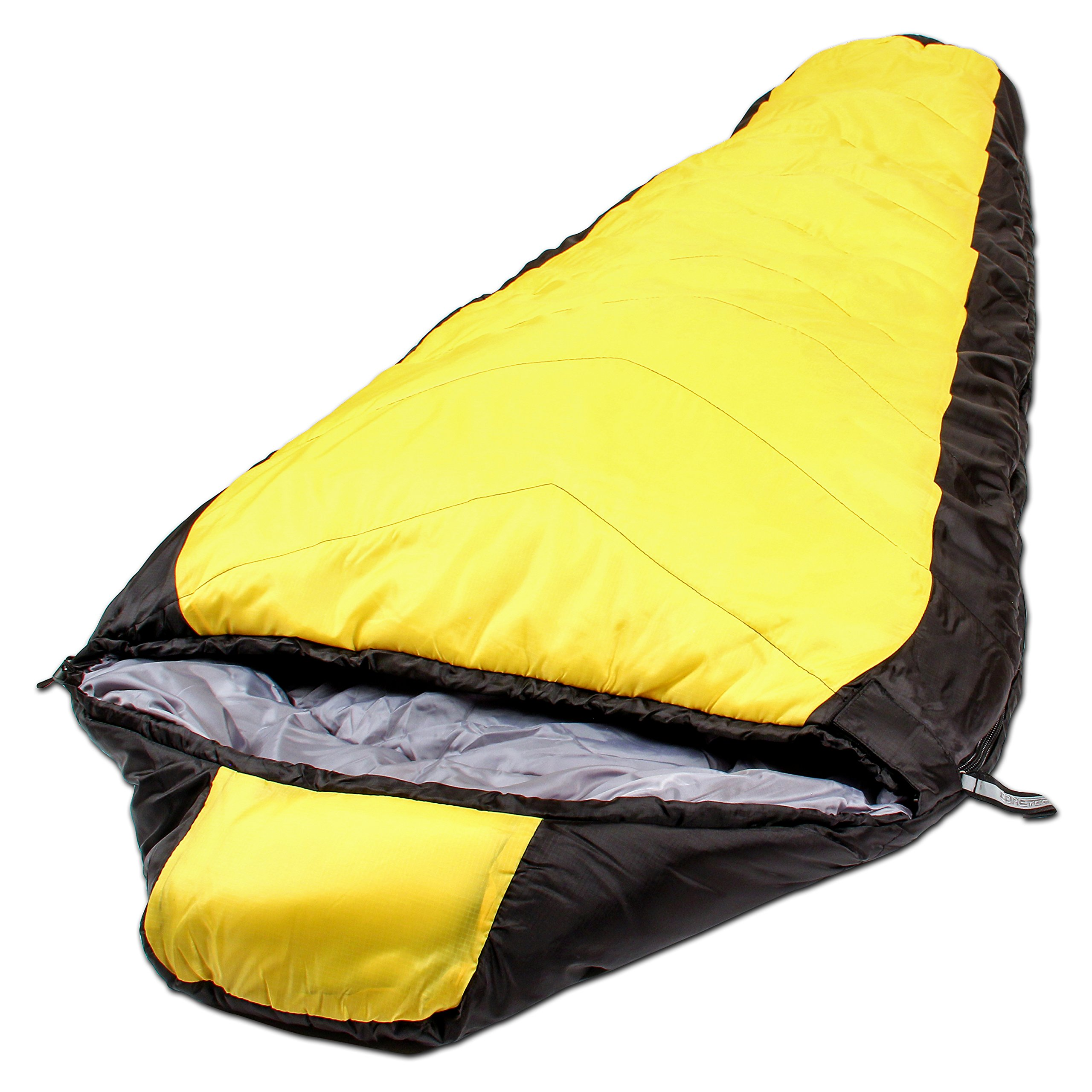 Northstar Tactical Coretech Sleeping Bag with 2 Fast Clip Closure, Yellow, 3.5-Pound
