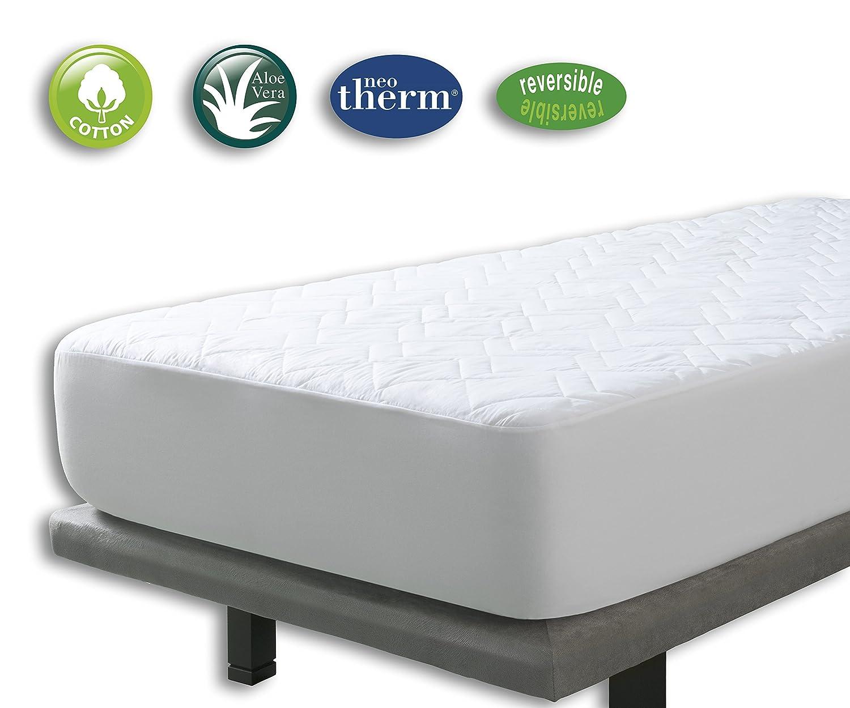 Cubrecolchon Microfibra Aloe Vera Reversible cama de 135x190/200 de Velfont: Amazon.es: Hogar
