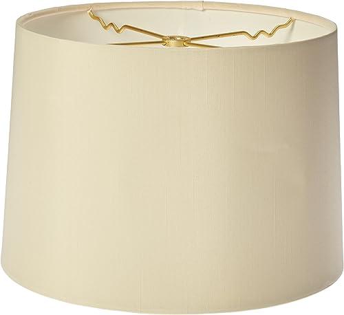Royal Designs HB-610-12EG Shallow Drum Hardback Lamp Shade, 11 x 12 x 8.5, Eggshell