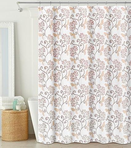 Amazon Fabric Shower Curtain Semi Sheer Floral Design 70 X