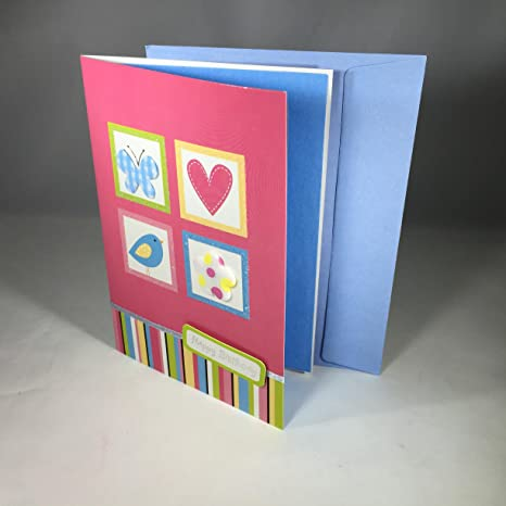 Amazon fixturedisplays unit of 10 hand crafted greeting card fixturedisplays unit of 10 hand crafted greeting card with 3 d features degree happy spring m4hsunfo