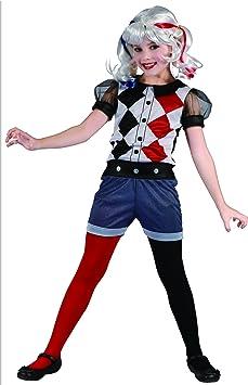 Generique - Disfraz Arlequina heroína niña 7-9 años (122/134 ...