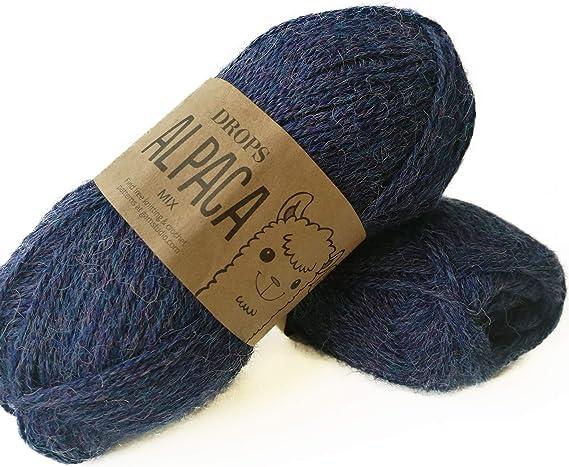 Alpaca (hilos de punto y ganchillo – 4 capas de peso) 6347 Uni Grey Purple: Amazon.es: Hogar