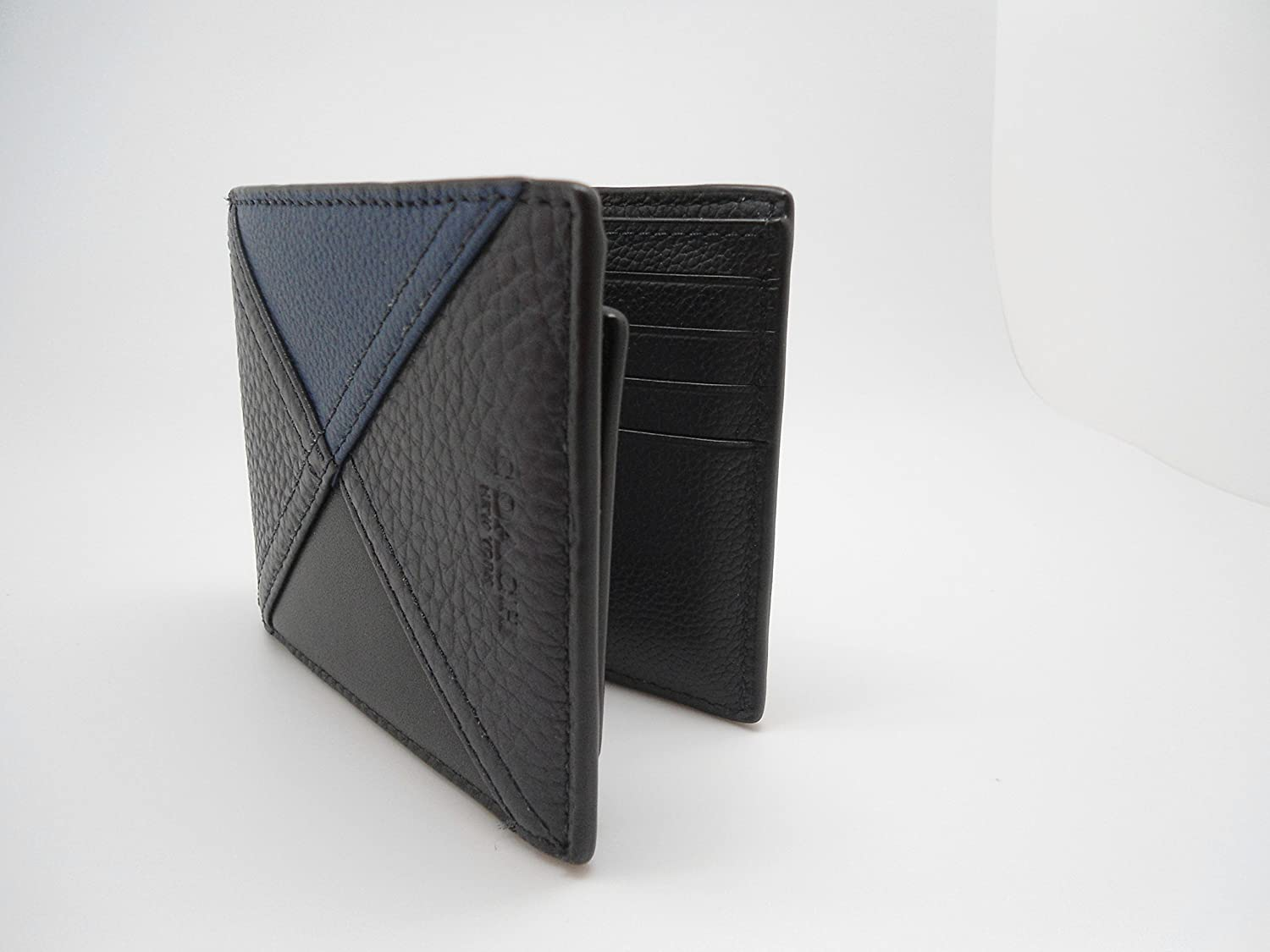 afcd94f51ec18 COACH 3 in 1 Patchwork Leather Passcase ID Wallet in Indigo Blue 56599   Amazon.ca  Clothing   Accessories