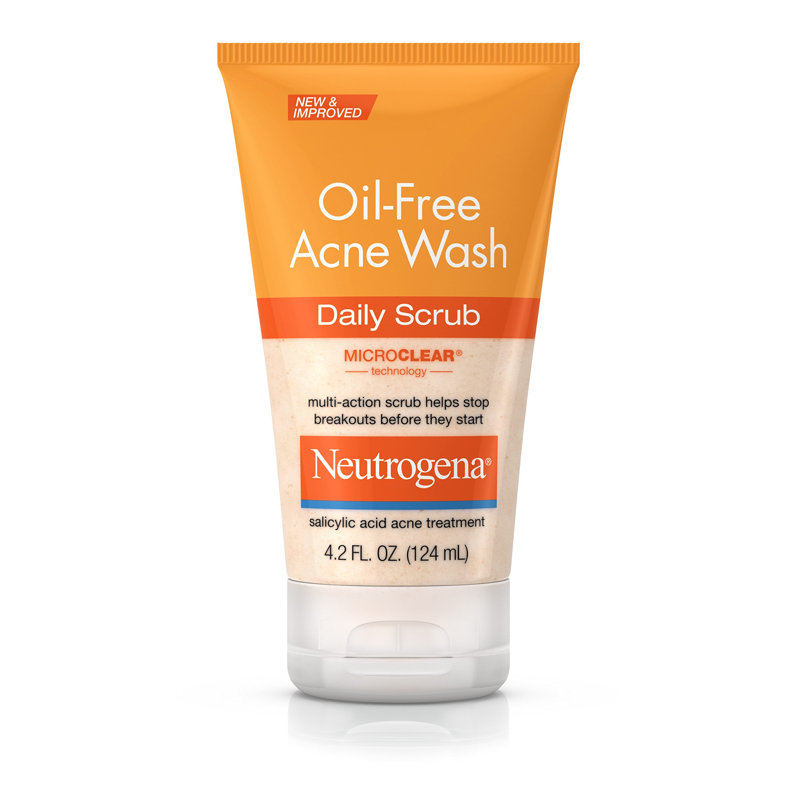Neutrogena Oil-Free Acne Face Wash Daily Face Scrub with Salicylic Acid Acne Medicine, 4.2 fl. oz