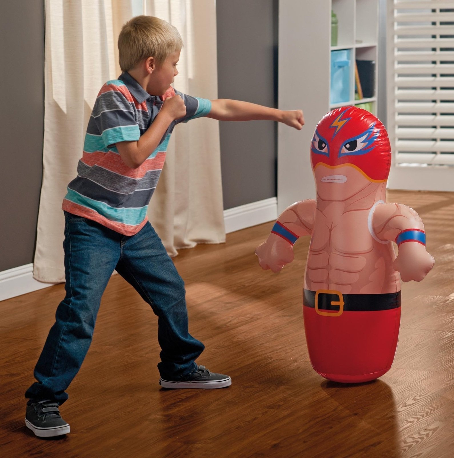 36'' 2 Pack 3-D Bop Bag Masked Wrestlers - MMA Fighter Wrestling Kick Boxing Tackle Buddy Punching Bop Bag Fun Kids Indoor Outdoor Toy by Intex (Image #2)