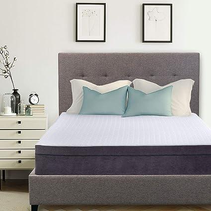 e13f8544e2464 Amazon.com  Hudson Tufted Upholstered Platform Bed