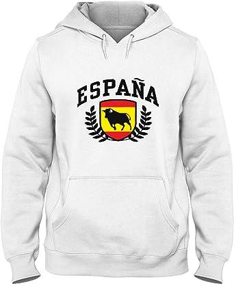 Sudadera con Capucha para Hombre Blanca DEC0387 Espana: Amazon.es ...