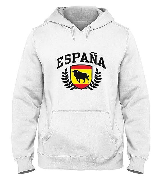 Sudadera con Capucha para Hombre Blanca DEC0387 Espana: Amazon.es: Ropa y accesorios