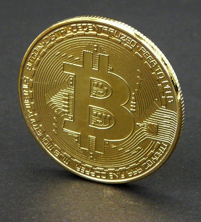 Physische Bitcoin Münze Gold Aus Kupfer Amazonde Computer Zubehör