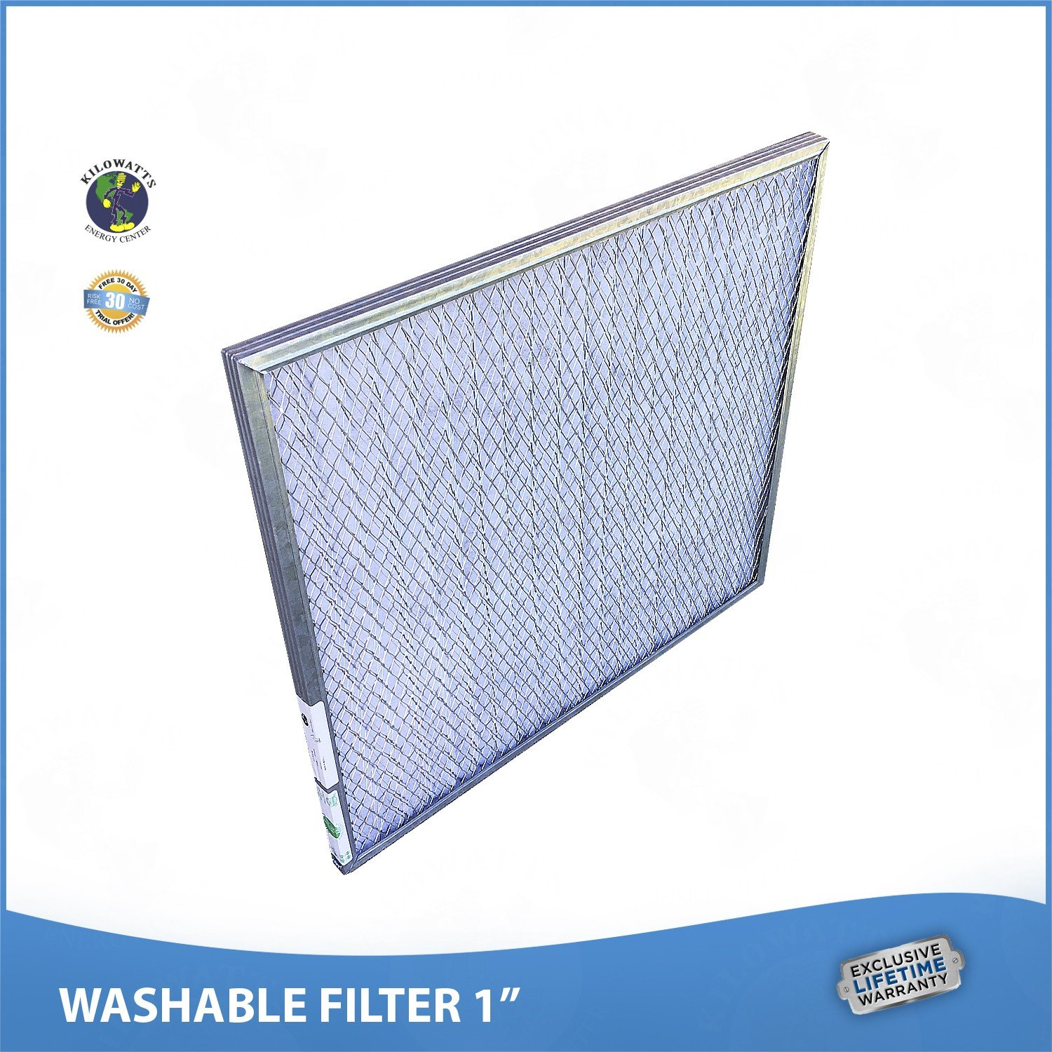 17x22x1 Washable Permanent A/C Furnace Air Filter. Low Air Resistance by Kilowatts Energy Center (Image #3)