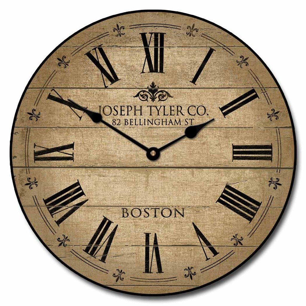 Barnwood Tan Wall Clock, Available in 8 sizes, Most Sizes Ship 2 - 3 days, Whisper Quiet.