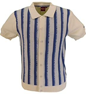 Gabicci GW03 Polka Dot SS Shirt Navy