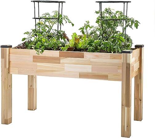 Amazon Com Cedarcraft Elevated Cedar Planter 23 X 49 X 30