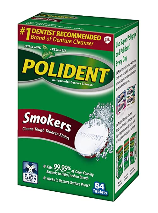 amazon com polident smokers denture cleanser 84 count denture