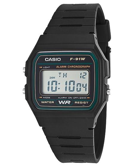 Casio 91w Negro F 3dg Reloj Color mv8nN0w