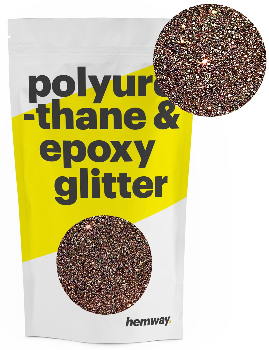 Hemway Metallic Glitter Floor Crystals for Epoxy Resin Flooring (500g) Domestic, Commercial, Industrial - Garage, Basement - Can be used with Internal & External (Bronze)