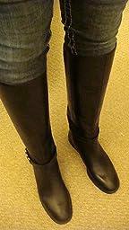 Amazon.com | Nine West Women's Heavinli Leather Boot | Knee-High
