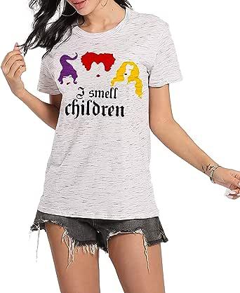 أنا سميل الأطفال قمصان النساء مضحك ساندرسون أخوات قصيرة الأكمام الجرافيك المحملات بلايز عارضة